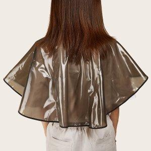 Водонепроницаемая шаль для парикмахерских SHEIN. Цвет: серые