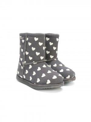 Ботинки с принтом Emu Kids. Цвет: серый