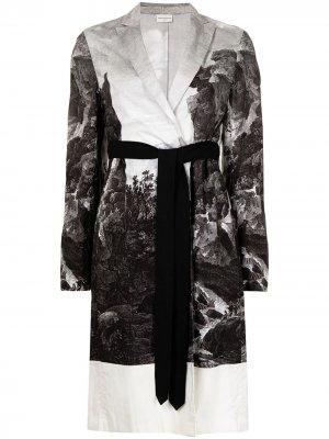 Пальто Duster Dries Van Noten Pre-Owned. Цвет: черный