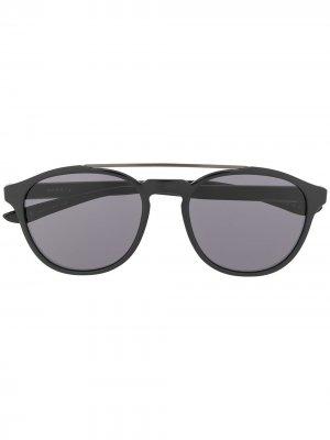 Солнцезащитные очки Kismet в круглой оправе Nike. Цвет: черный