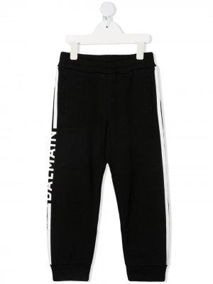 Спортивные брюки с логотипом Balmain Kids. Цвет: черный