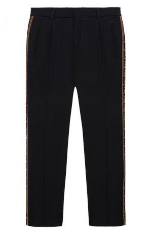 Шерстяные брюки Fendi. Цвет: синий