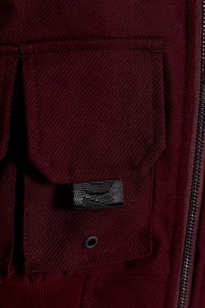 Хлопковый бомбер с накладными карманами Daily Paper. Цвет: коричневый