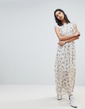 Платье макси с цветочным принтом Sofie Schnoor. Цвет: мульти