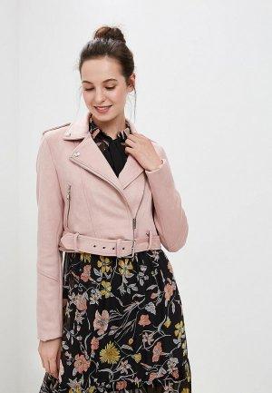 Куртка кожаная Befree. Цвет: розовый