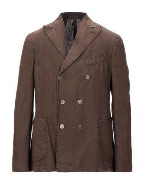 Пиджак SANTANIELLO. Цвет: темно-коричневый