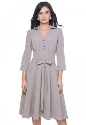 Платье Grey Cat VELES. Цвет: серый