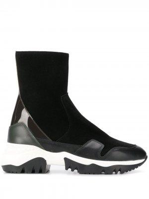 Высокие кроссовки со вставками A.F.Vandevorst. Цвет: черный