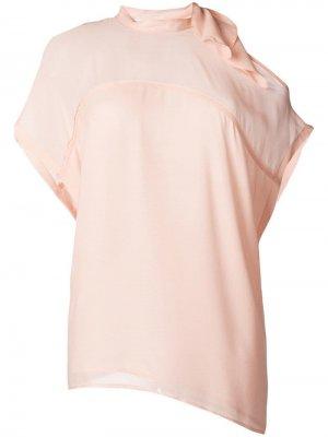 Блузка с бантом 8pm. Цвет: розовый