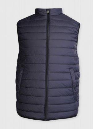 Утеплённный жилет O`Stin. Цвет: черно-синий