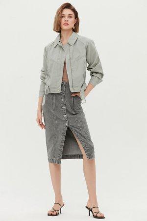 Куртка джинсовая Love Republic. Цвет: 11, светло-зеленый