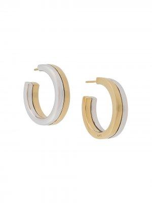 Открытые серьги-кольца A.P.C.. Цвет: золотистый