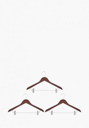 Комплект плечиков El Casa. Цвет: коричневый