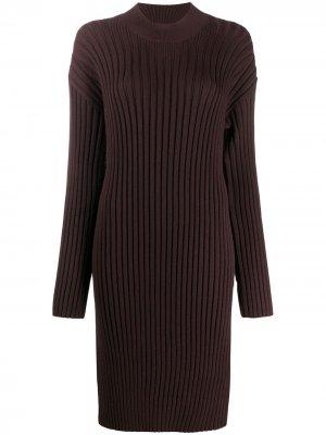 Платье-свитер в рубчик Kenzo. Цвет: коричневый