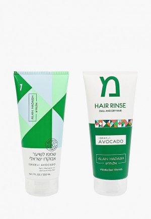 Набор для ухода за волосами Alan Hadash «Israeli Avocado» тусклых и сухих волос,  Hadash, 2х200 мл. Цвет: прозрачный