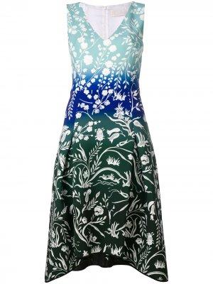 Платье с принтом Peter Pilotto. Цвет: синий