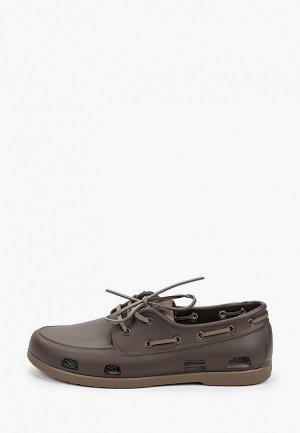 Топсайдеры Crocs. Цвет: коричневый