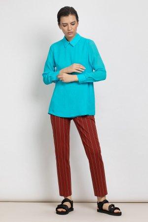 Зауженные брюки в полоску VASSA&Co. Цвет: бордовый