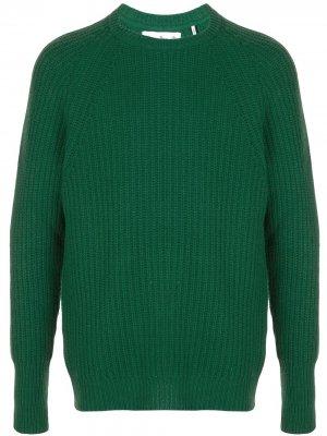 Джемпер в рубчик Barbour. Цвет: зеленый