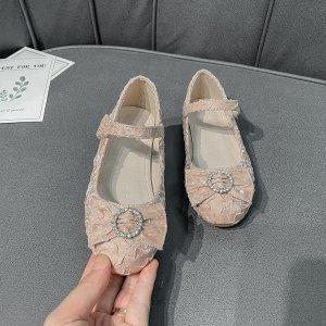 Для девочек Туфли мэри джейн SHEIN. Цвет: розовые