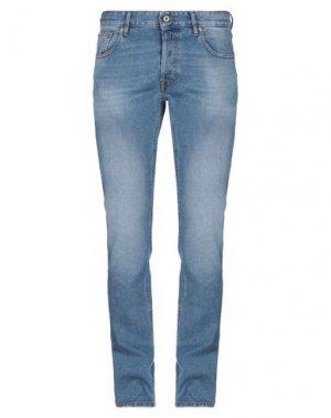 Джинсовые брюки JUST CAVALLI. Цвет: синий