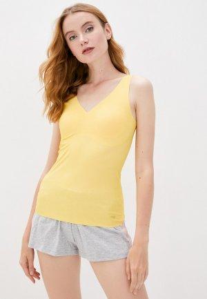 Майка домашняя Sloggi ZERO Feel Natural Shirt. Цвет: желтый
