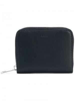 Компактный кошелек A.P.C.. Цвет: синий