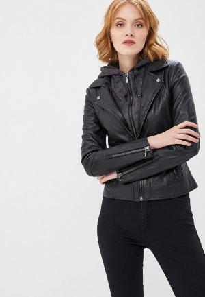 Куртка кожаная Arma Preto. Цвет: черный