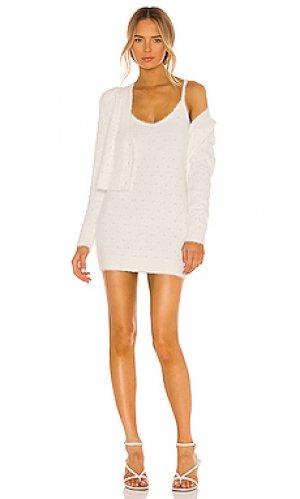 Платье shoshanna MAJORELLE. Цвет: кремовый