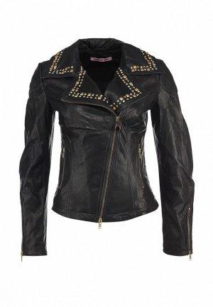 Куртка кожаная Fornarina FO019EWKZ900. Цвет: черный