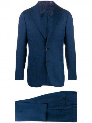 Строгий костюм-двойка ETRO. Цвет: синий