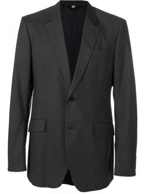 Пиджак 1990-х годов Burberry Pre-Owned. Цвет: серый