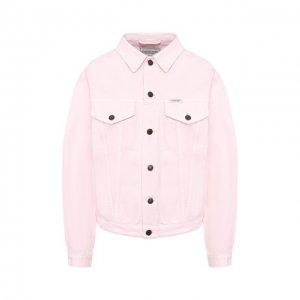 Джинсовая куртка Forte Dei Marmi Couture. Цвет: розовый