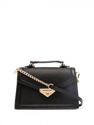Grace small saffiano leather crossbody bag Michael Kors. Цвет: черный