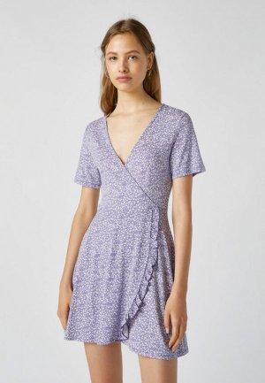 Платье Pull&Bear. Цвет: фиолетовый