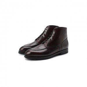 Кожаные ботинки W.Gibbs. Цвет: красный