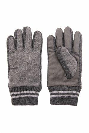Перчатки мужские Finn-Flare. Цвет: серый