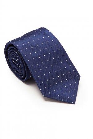 Синий галстук с сердцами Prada. Цвет: синий