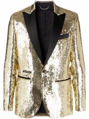 Декорированный пиджак Lord Philipp Plein. Цвет: золотистый