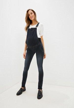 Комбинезон джинсовый Mams Mam's. Цвет: черный