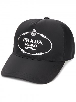 Бейсболка с логотипом Prada. Цвет: черный