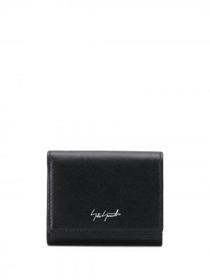 Компактный кошелек с логотипом Discord Yohji Yamamoto. Цвет: черный