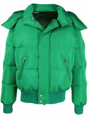 Пуховик с капюшоном Alexander McQueen. Цвет: зеленый