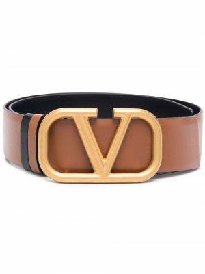 Ремень с пряжкой VLogo Signature Valentino Garavani. Цвет: коричневый