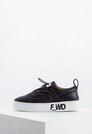 Слипоны F_WD. Цвет: черный