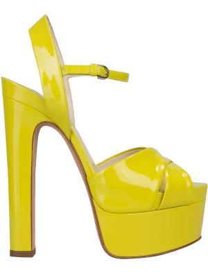 Босоножки Brian Atwood. Цвет: желтый