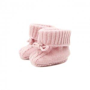 Кашемировые пинетки Wool&Cotton. Цвет: розовый