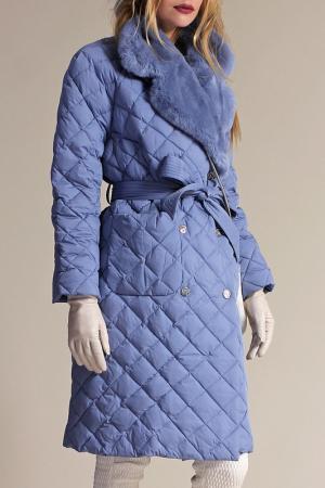 Пуховое пальто Naumi. Цвет: мультицвет