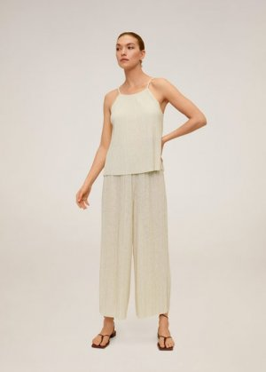 Плиссированные брюки-кюлоты - Verdi Mango. Цвет: песочный