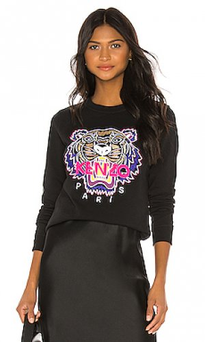 Пуловер tiger Kenzo. Цвет: черный